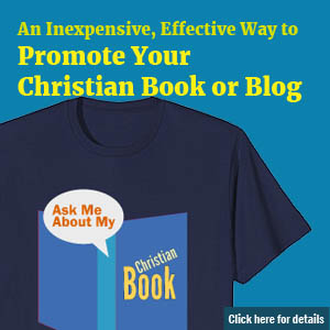christian writer t-shirt ad